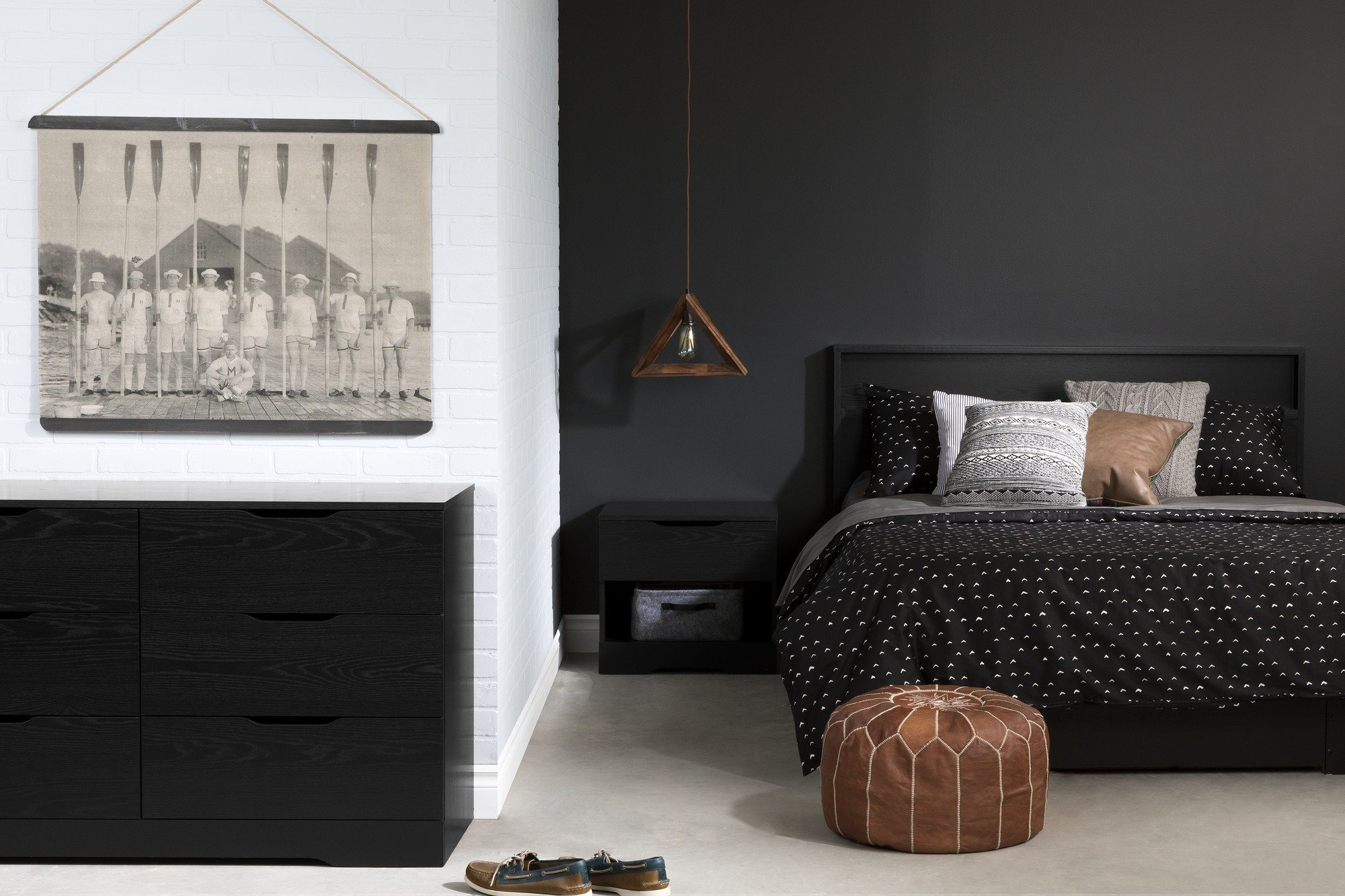 South Shore 11290 Holland Headboard (54/60''), Full/Queen, Black Oak by South Shore (Image #3)