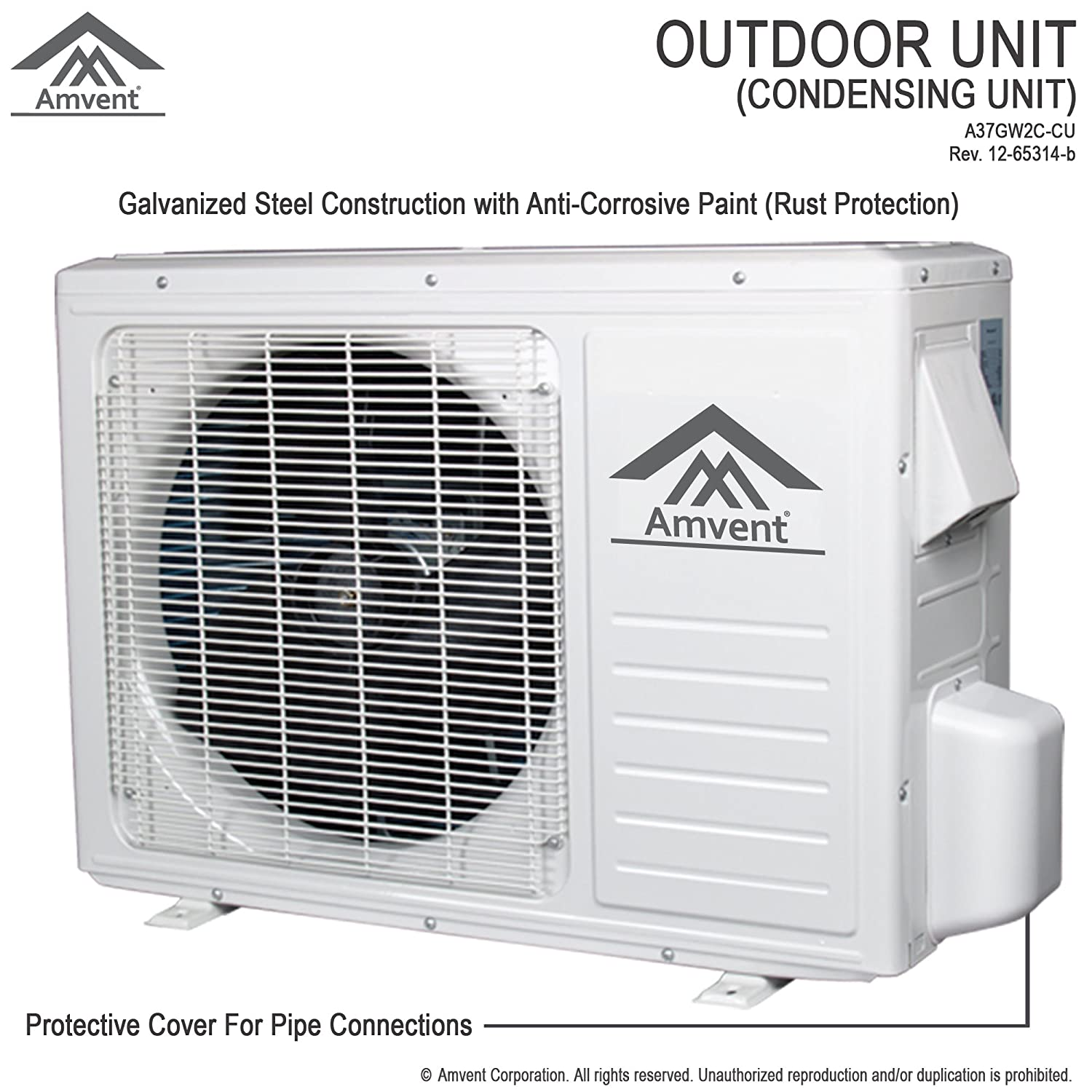 Amazon amvent 12000 btu 1 ton ductless wall mount mini split amazon amvent 12000 btu 1 ton ductless wall mount mini split room air conditioner ac conditioning cooling system unit home kitchen jeuxipadfo Images