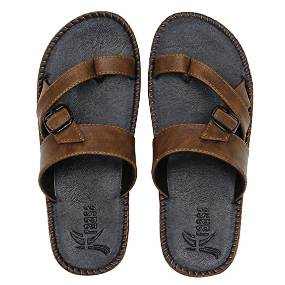 Kraasa Men's Synthetic Outdoor Sandals Men's Fashion Sandals at amazon