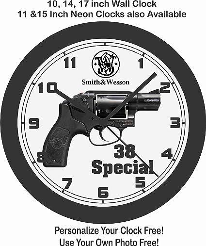Amazon Com Jims Classic Clocks Smith Wesson 38 Special Handgun
