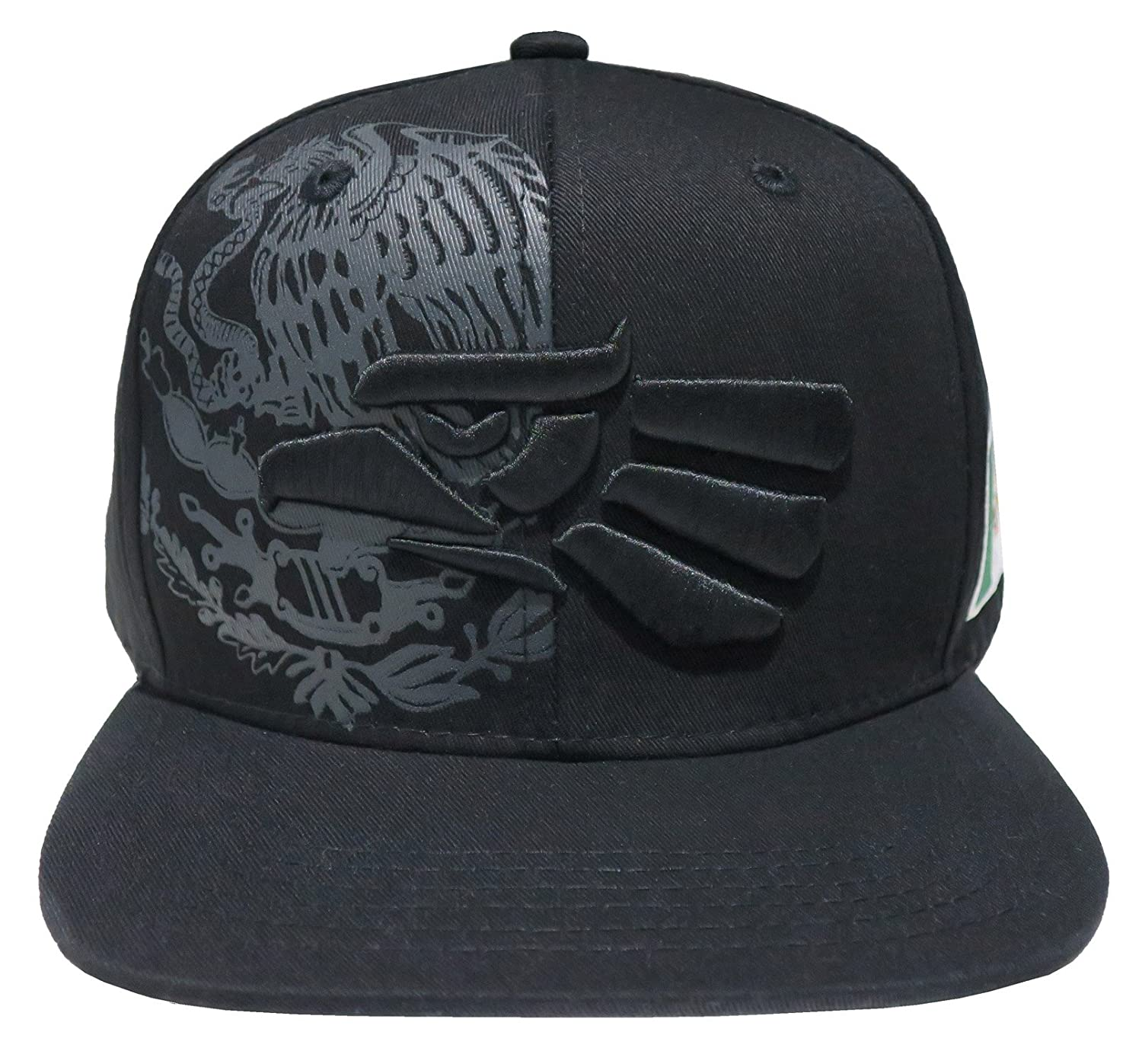 Leader of Generation Hecho En Mexico Mexican Eagle Embroidered Flatbill  Snapback (Black Black MEX04) at Amazon Men s Clothing store  3de07364658