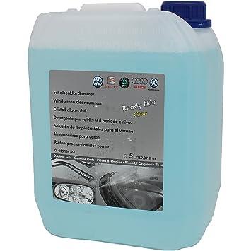 Original VW Audi Liquido Limpiacristales parabrisas Mezclado fragancia Limón en 5 litros: Amazon.es: Coche y moto