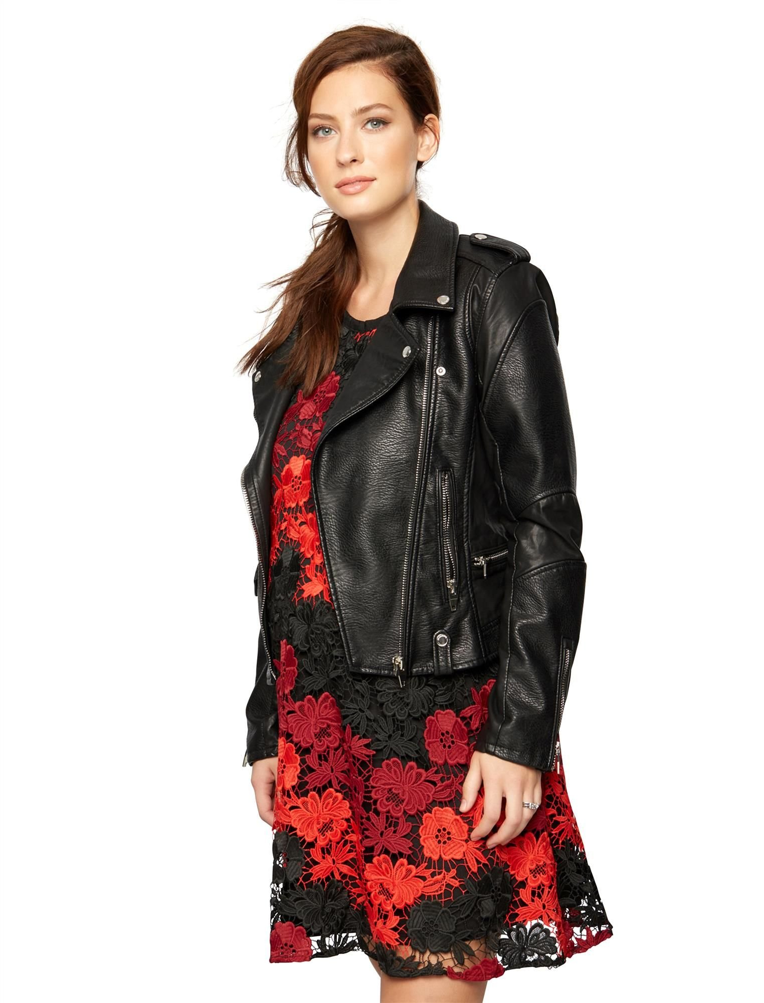 BLANK NYC Faux Leather Faux Leather Maternity Jacket by [BLANKNYC]
