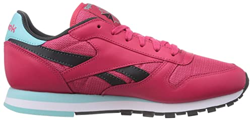 Reebok Classic Leather Suede Seasonal II - Zapatillas para Mujer, Color Rosa (Blazing Pink/Gravel/Crystal Blue/White), Talla 37.5 (4.5 UK/7 US)