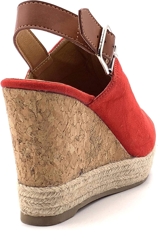 Angkorly Chaussure Mode Sandale Mule Folk//Ethnique Boh/ème Hauts Talons Femme avec de la Paille tr/éss/é li/ège Talon compens/é Plateforme 12 CM
