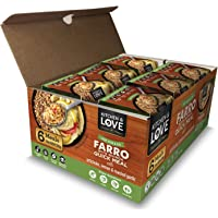 Kitchen & Love Artichoke, Lemon & Roasted Garlic Farro Meal 6-Pack | Vegan, Ready-to-Eat, No Refrigeration Required
