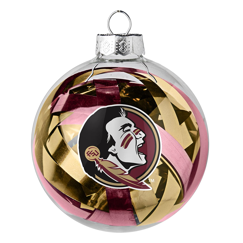NCAA Large Tinsel Ball Ornament
