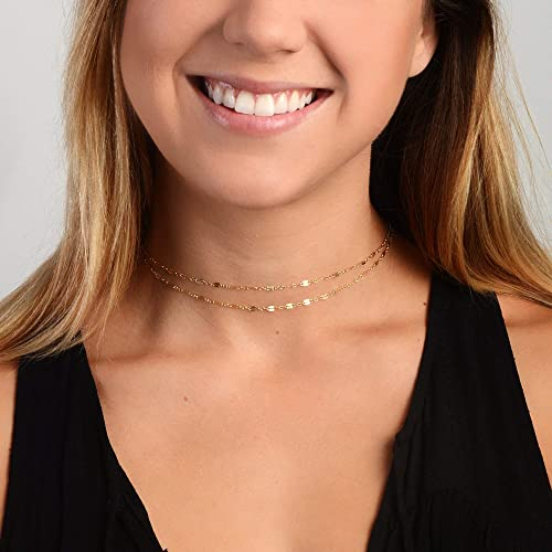 Dainty Chain Choker Necklace Layering Necklace Chain Choker Minimalist Choker Gold Choker Silver Choker Sterling Silver Delicate Choker