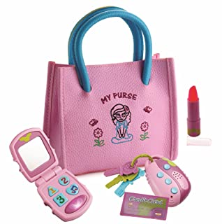 Dress Up America Little Girl's My First Purse – Pretend Play Kid Purse Set for Girls Accessory, multi color, One Size 4102K
