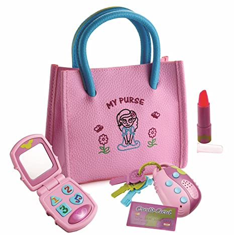 af76257ada Dress Up America Little Girl's My First Purse - Pretend Play Kid Purse Set  for Girls