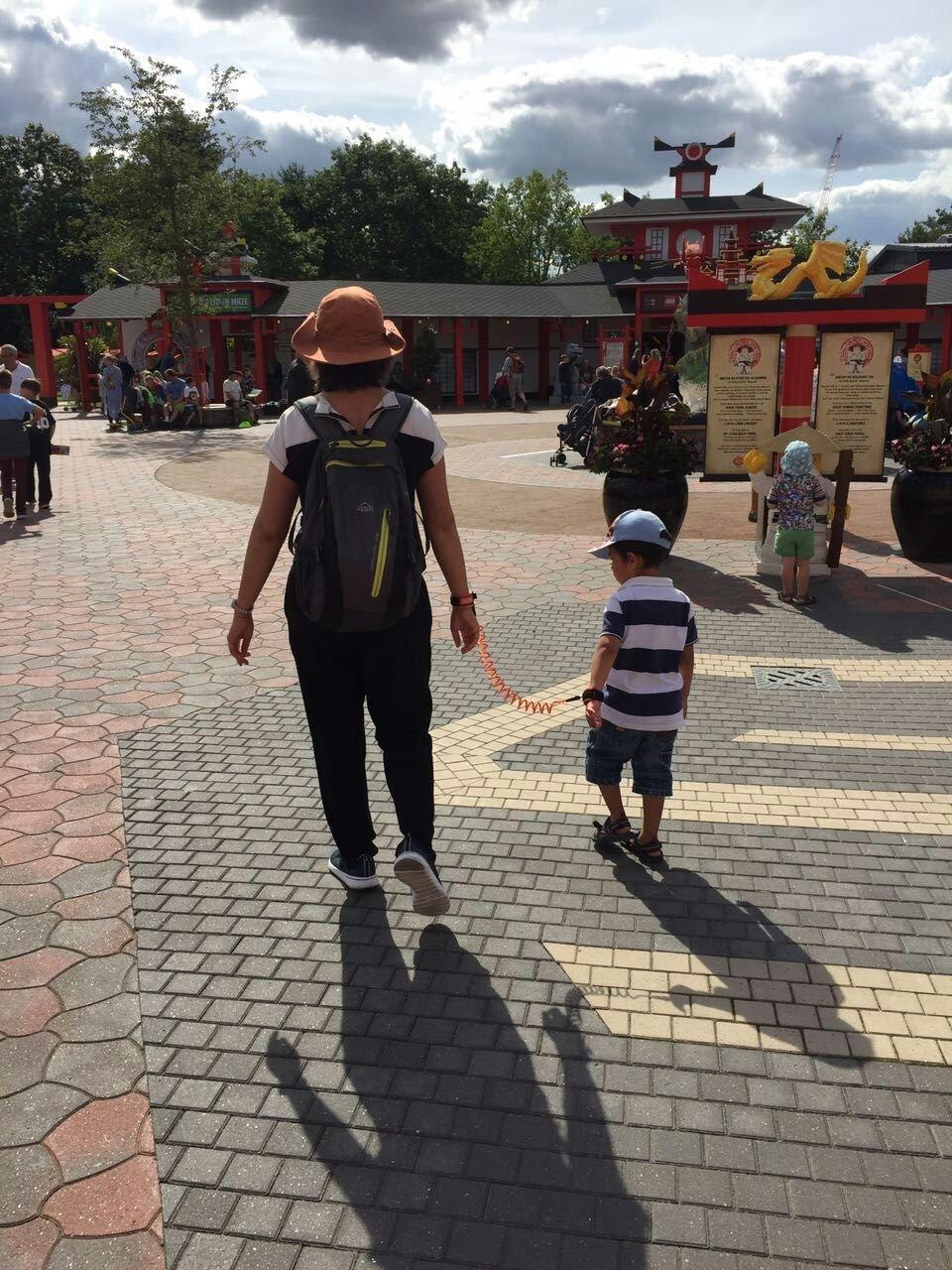 Anti-Lost Wrist, Ubwell Toddler Reins Safty Wrist Link Adjustable Wrist Link Walking Hand Belt for Children Kids Walking (Blue) Ubwell for life