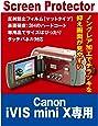 液晶保護フィルム ビデオカメラ CANON iVIS mini X専用(反射防止フィルム・マット)【クリーニングクロス付】