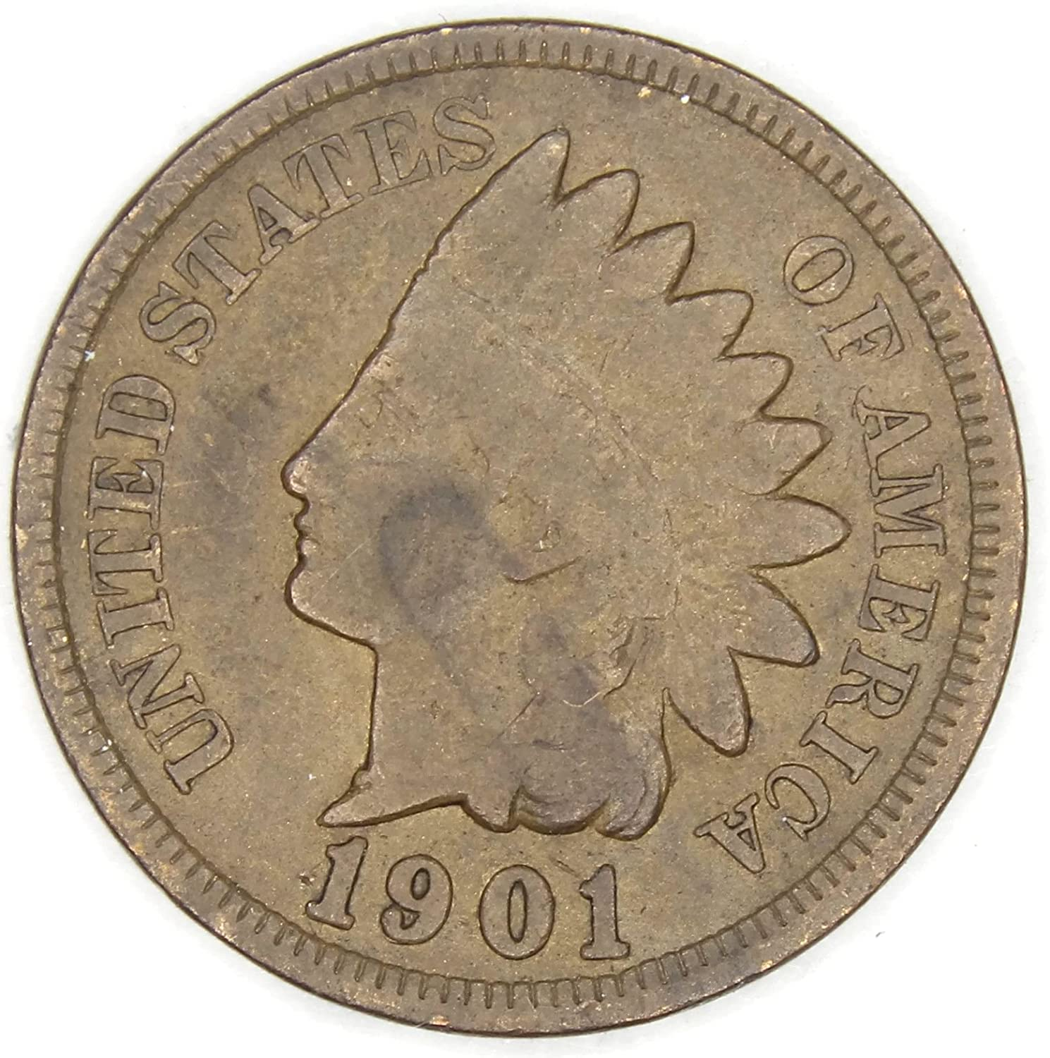 1901 Indian Head Cent Penny