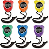 Champion Sports Stopwatch Timer Set: Waterproof, Handheld Digital Clock Sport Stopwatches with Large Display for Kids or…