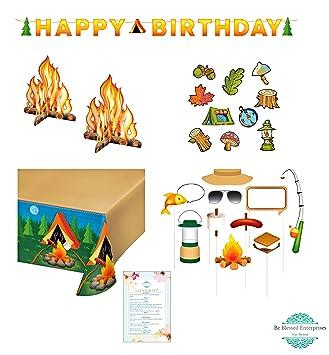 Amazon.com: Fiestas, Camping, feliz cumpleaños decoración ...