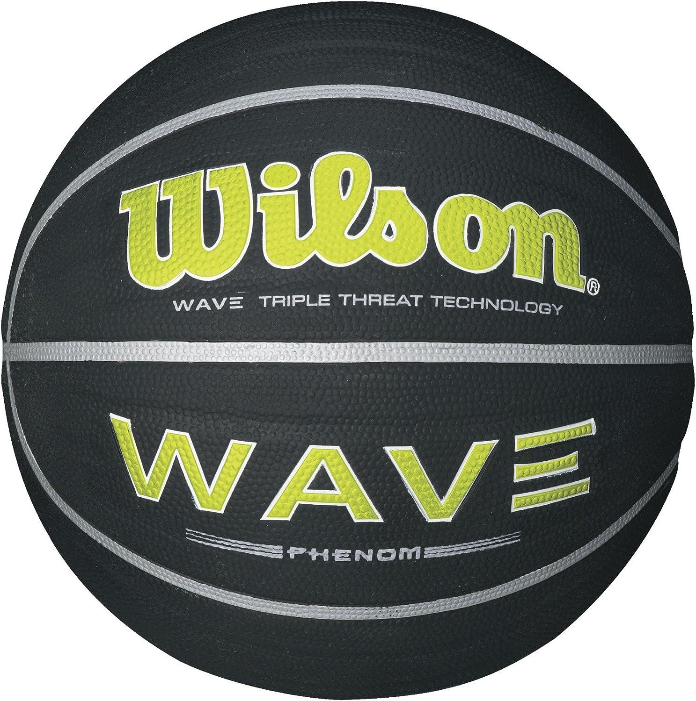 Wilson Wave Phenom Balón de Baloncesto Negro/Lima, Oficial tamaño ...