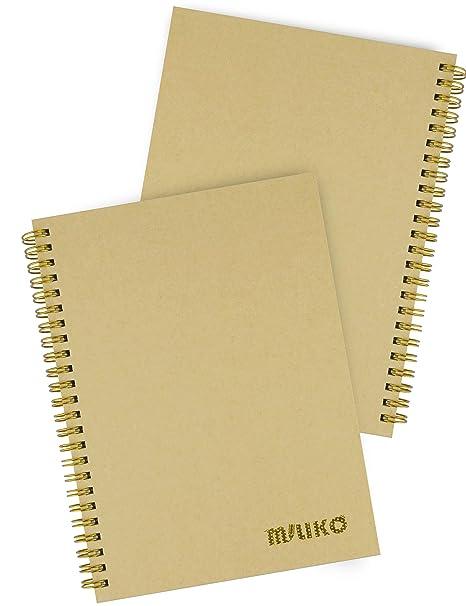 Amazon.com: Miliko - Cuaderno de espiral de papel de estraza ...