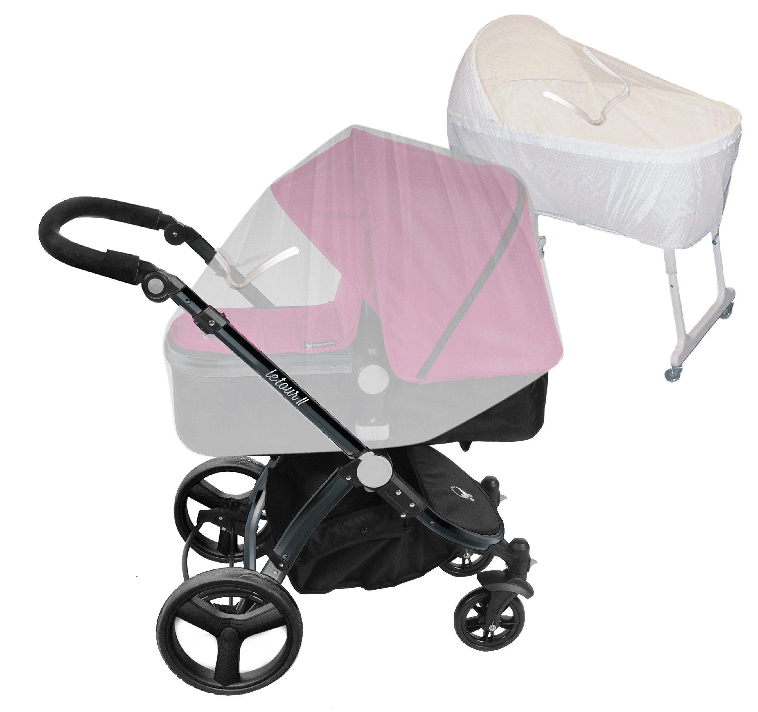 Comfy Baby EZ Access Zippered Window Bassinet & Carriage Net