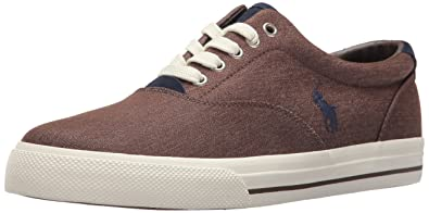 3708fbfa2c Polo Ralph Lauren Vaughn-Colored Denim Sneaker Brown 7.5 D(M) US ...