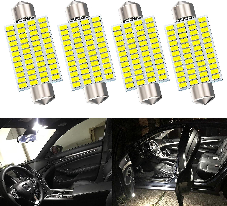 "LED Dome Light Bulbs Festoon 42mm 1.65/"" 6 Blue Set of 2pcs two pcs 212-2"