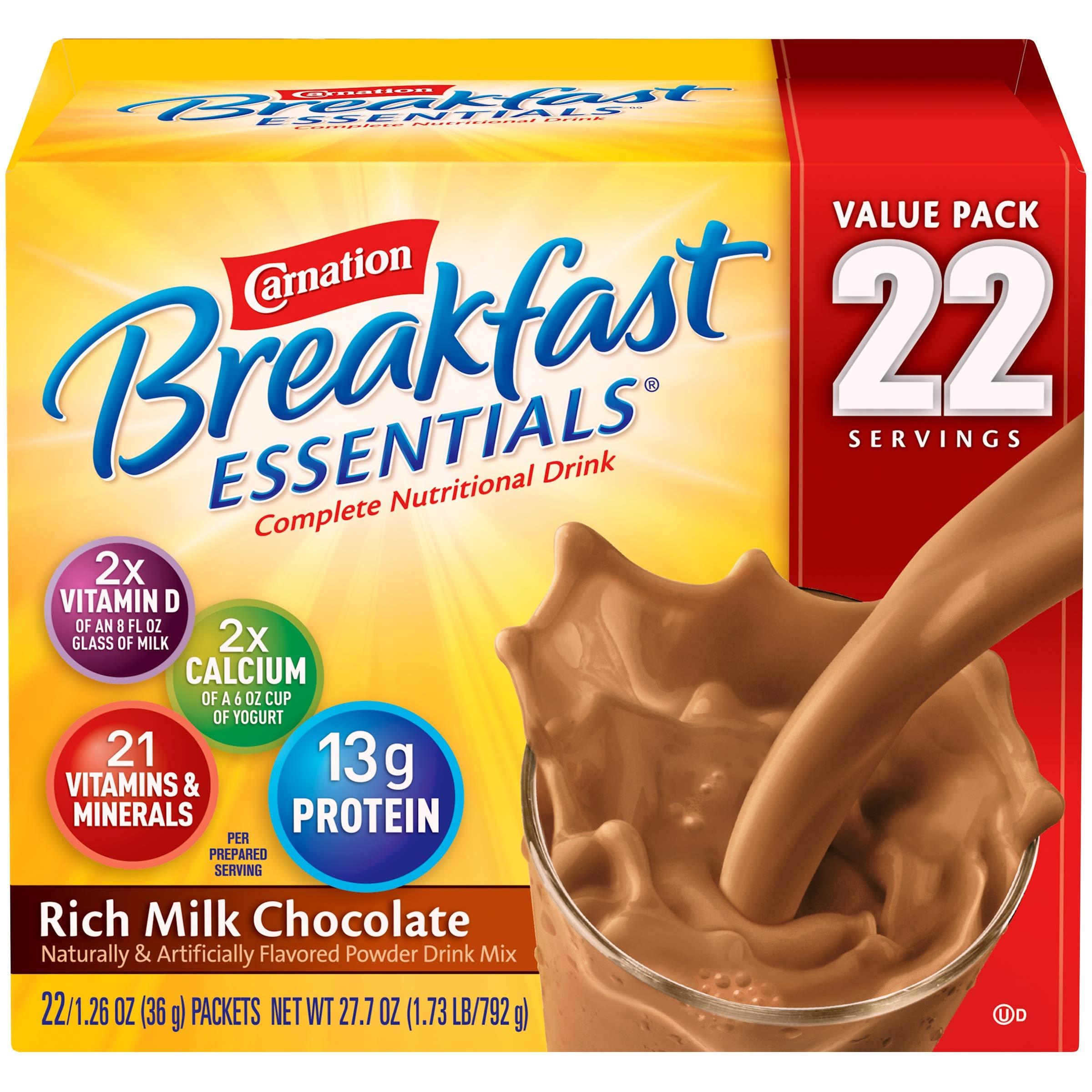 Carnation Breakfast Essentials 40-1.26oz Packets - Rich Milk Chocolate (2 Pack(40 Count))