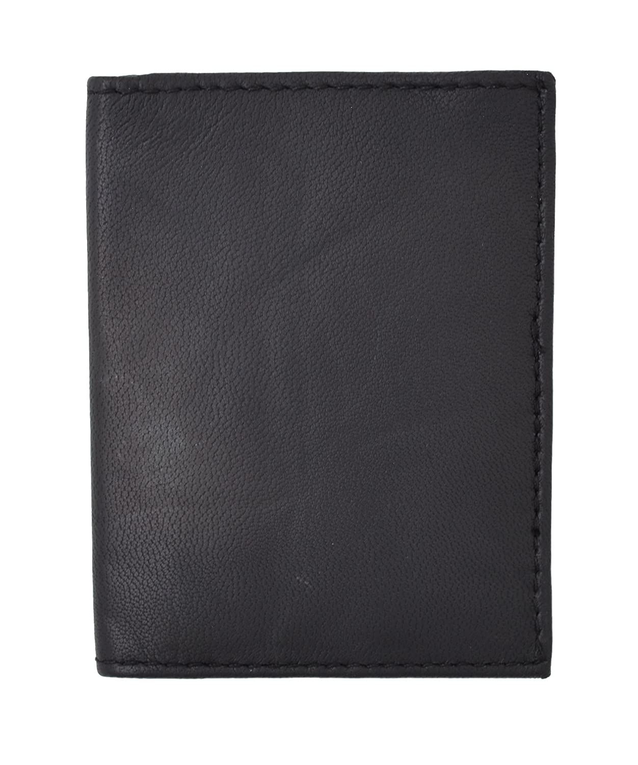 Genuine Lambskin Soft Leather Credit Card Holder with Id Window by Marshal