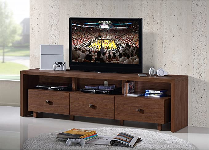 """Hickory Techni Mobili Elegant TV Stand For TV/'s Up To 75/"""" with Storage Color"""