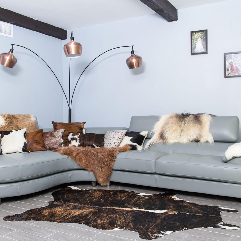 Rodeo Cowhide Rug Dark Brindle Medium 5x7 Furniture Decor