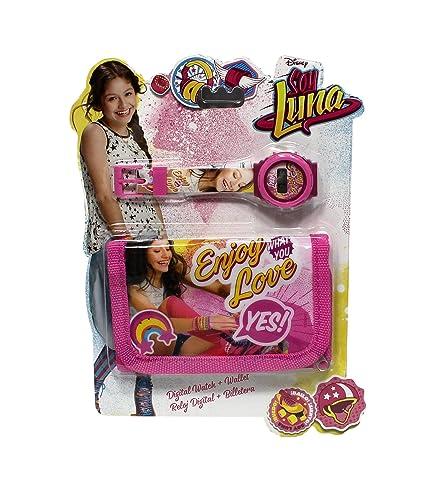 Disney Soy Luna - Conjunto de reloj digital y cartera para niña: Amazon.es: Relojes