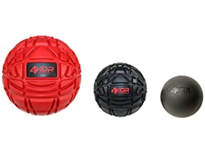 4KOR Fitness Ultimate Massage Balls for Physical Therapy - Deep Tissue Trigger Point Myofascial Release Tools - Back, Shoulder & Foot Muscle Massager Kit - Enhanced Gripping Mobility Rubber Balls