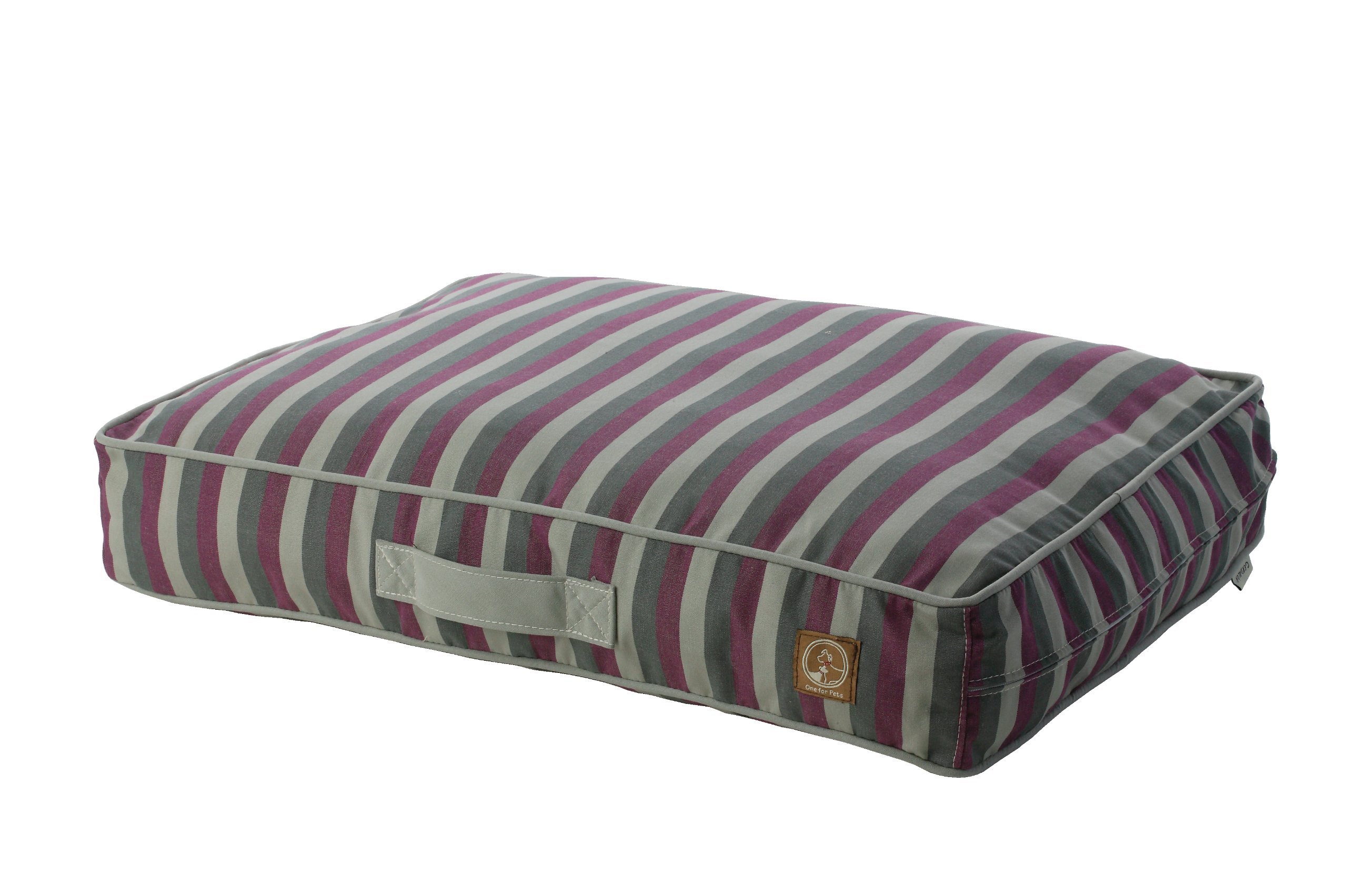 One for Pets Siesta Indoor/Outdoor Pet Bed Dog Bed Duvet Cover, Large, Purple Stripe