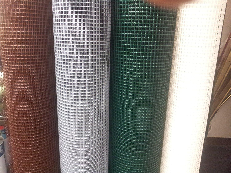 Red de plástico para balcones y vallas reforzada en los lados largos. Altura del rollo de 1m. Longitud 10metros. Color marrón