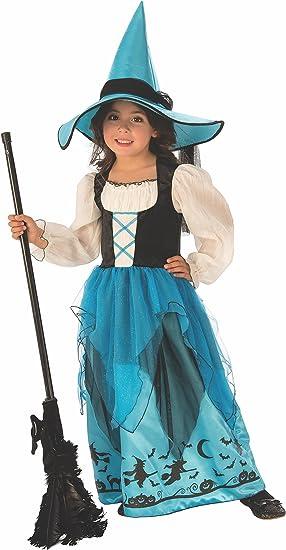Halloween - Disfraz de Bruja para niña, color azul - 3-4 años ...