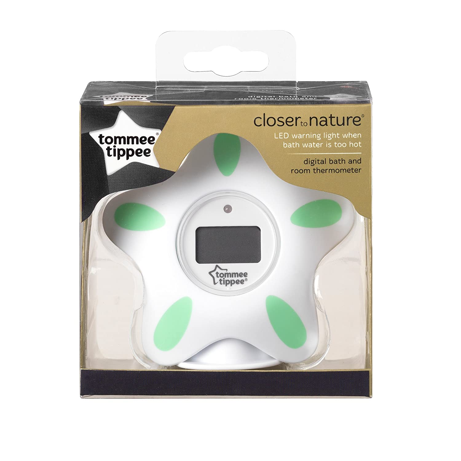Tommee Tippee Closer to Nature Bath and Room Thermometer, White ...