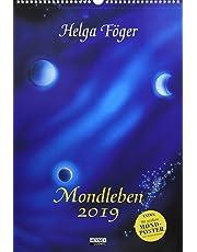 Mondleben 2019: Wandkalender