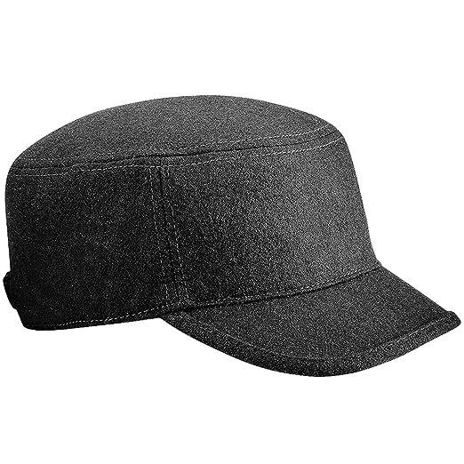 5c01331c6a1 Amazon.com  Beechfield Unisex Melton Wool Blend Cadet Army Cap (One Size)  (Chocolate)  Clothing