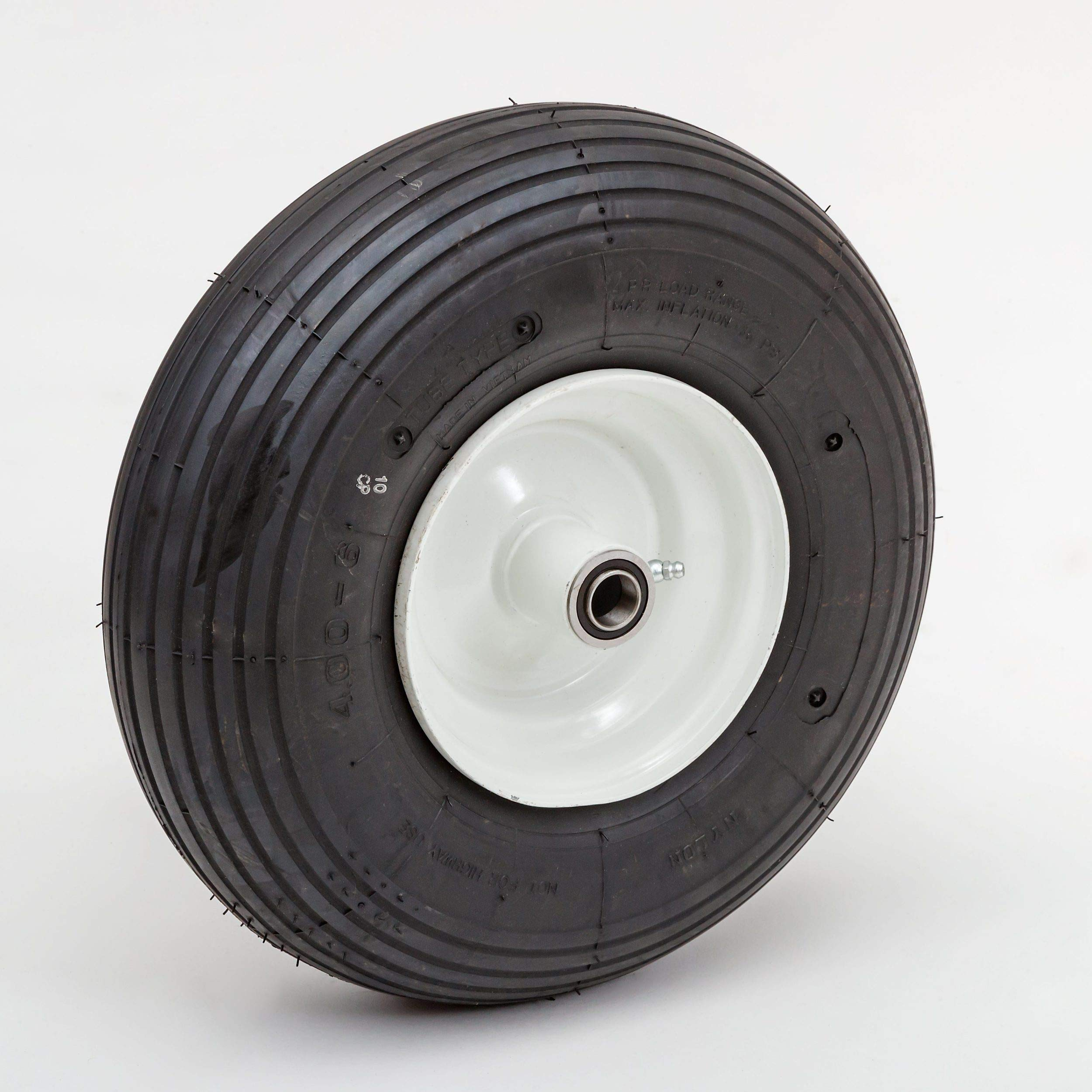 Lapp Wheels 13.6'' Pneumatic Wheel, Garden cart/Wagon/Wheelbarrow Replacement, 4.00-6 Wheel Size, Hub/Bearing Size Options
