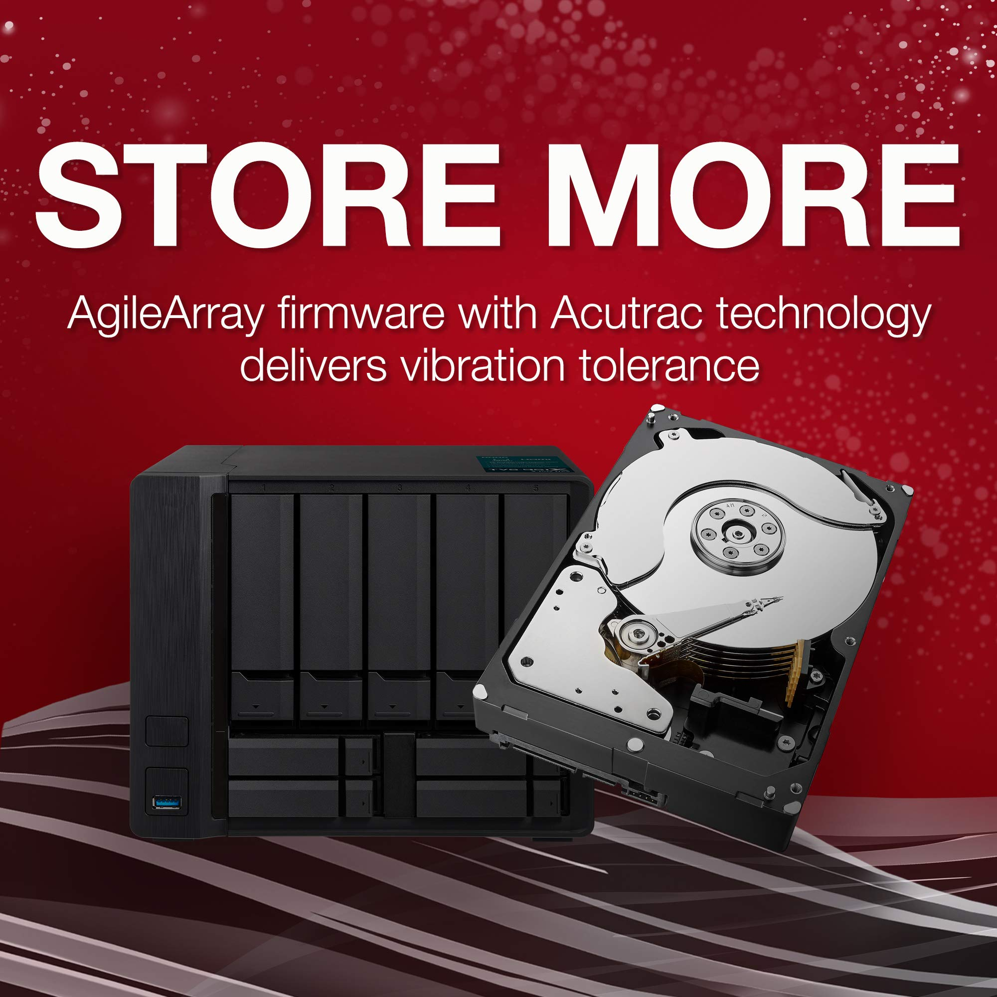 Seagate IronWolf 6TB NAS Internal Hard Drive HDD - 3.5 Inch SATA 6Gb/s 7200 RPM 256MB Cache for RAID Network Attached Storage (ST6000VN0033) by Seagate (Image #4)