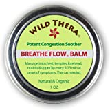 Wild Thera Breathe Easy/Breathe Flow Balm. Natural Sinus Relief, Allergy Relief, Stuffy Nose, Chest Congestion. Sinus…