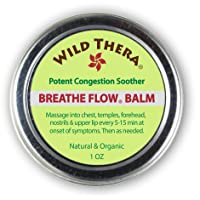 Wild Thera Breathe Flow Balm. Congestion Relief, Allergies, Cold Sinus Relief, Chest...