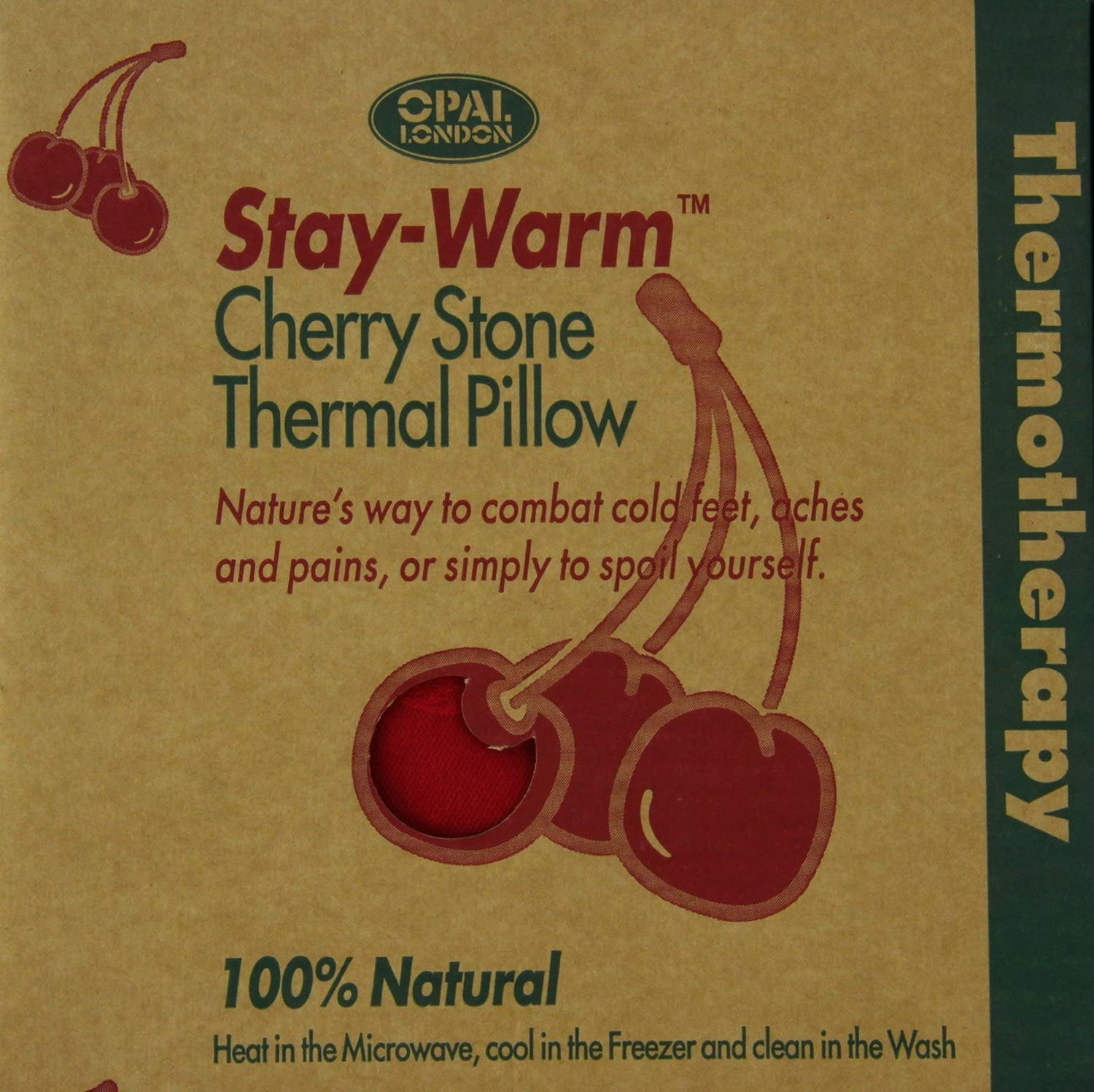 Organic Cherry Stone Pillow by Bonblatt /Öko-Tex 100 Certificate Heat Cushion Naturally and Fairly Produced in Germany Babies Grain Cushion Suitable for Adults Children and Animals