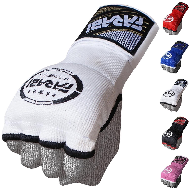 Farabi kidsハイブリッドBoxing Inner Gloves PunchingボクシングMMAムエタイジムワークアウトプロテクター手ラップジェルInnerグローブ指なし手袋包帯Mitts。 B078YR2XZ8 ホワイト Junior