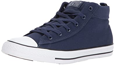 26a3499cff6 Converse Mens High Street Canvas Mid Midnight Navy Cool Grey White Sneaker  - 10.5