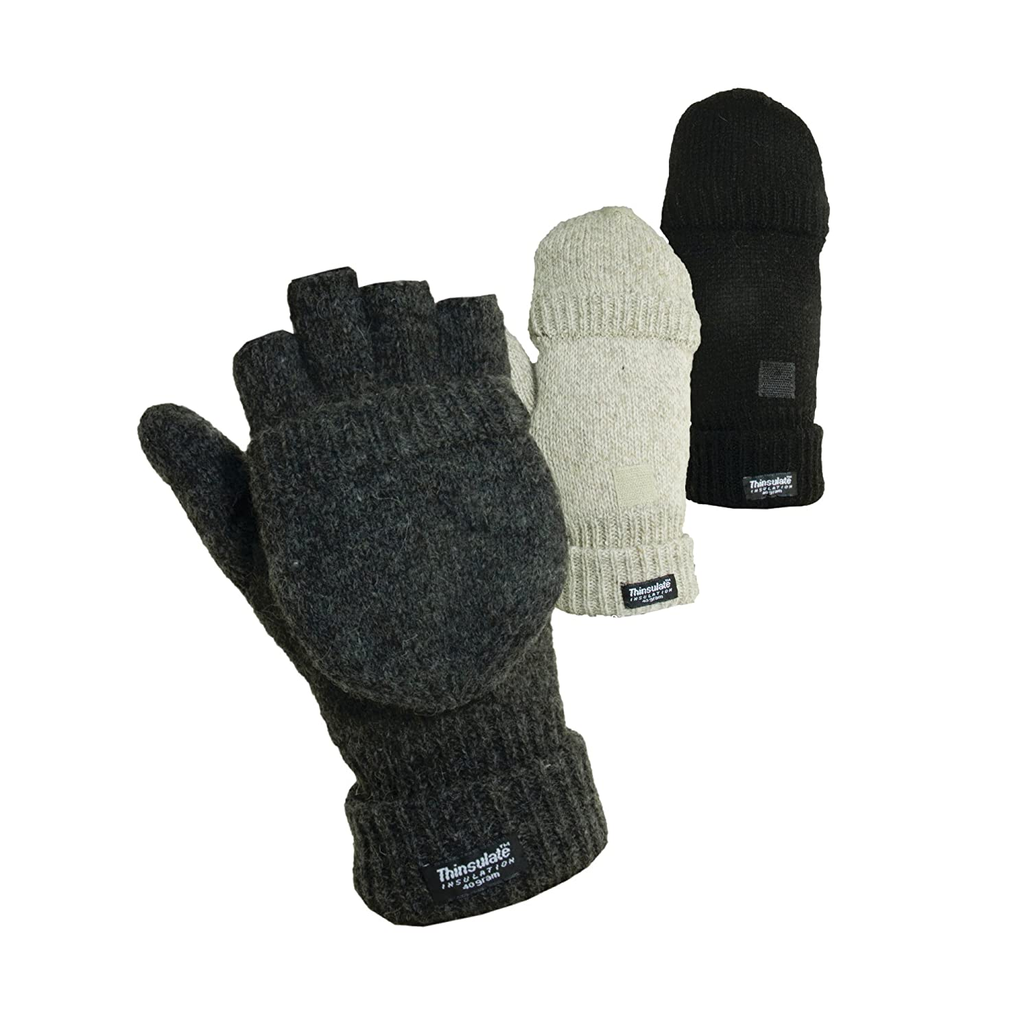 DORFMAN PACIFIC OUTDOOR RAGG WOOL GLOMMIT THINSULATE GLOVES G82