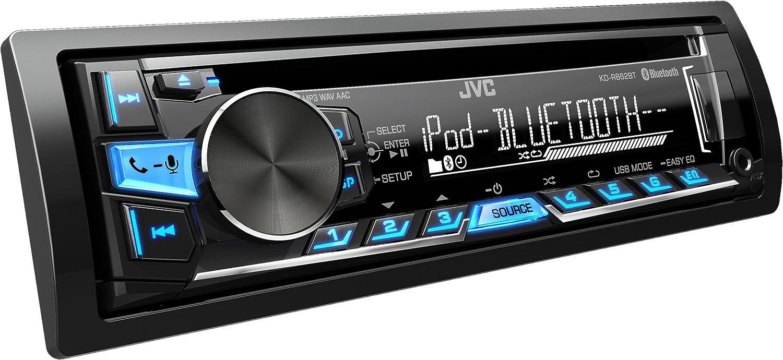 JVC KD-R862BTE - Equipo de Radio para automóvil (USB, CD, Bluetooth, Incluye A2DP), Color Negro: Amazon.es: Electrónica