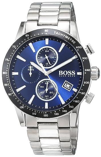 Hugo BOSS Reloj Cronógrafo para Hombre de Cuarzo con Correa en Acero Inoxidable 1513510: Amazon.es: Relojes