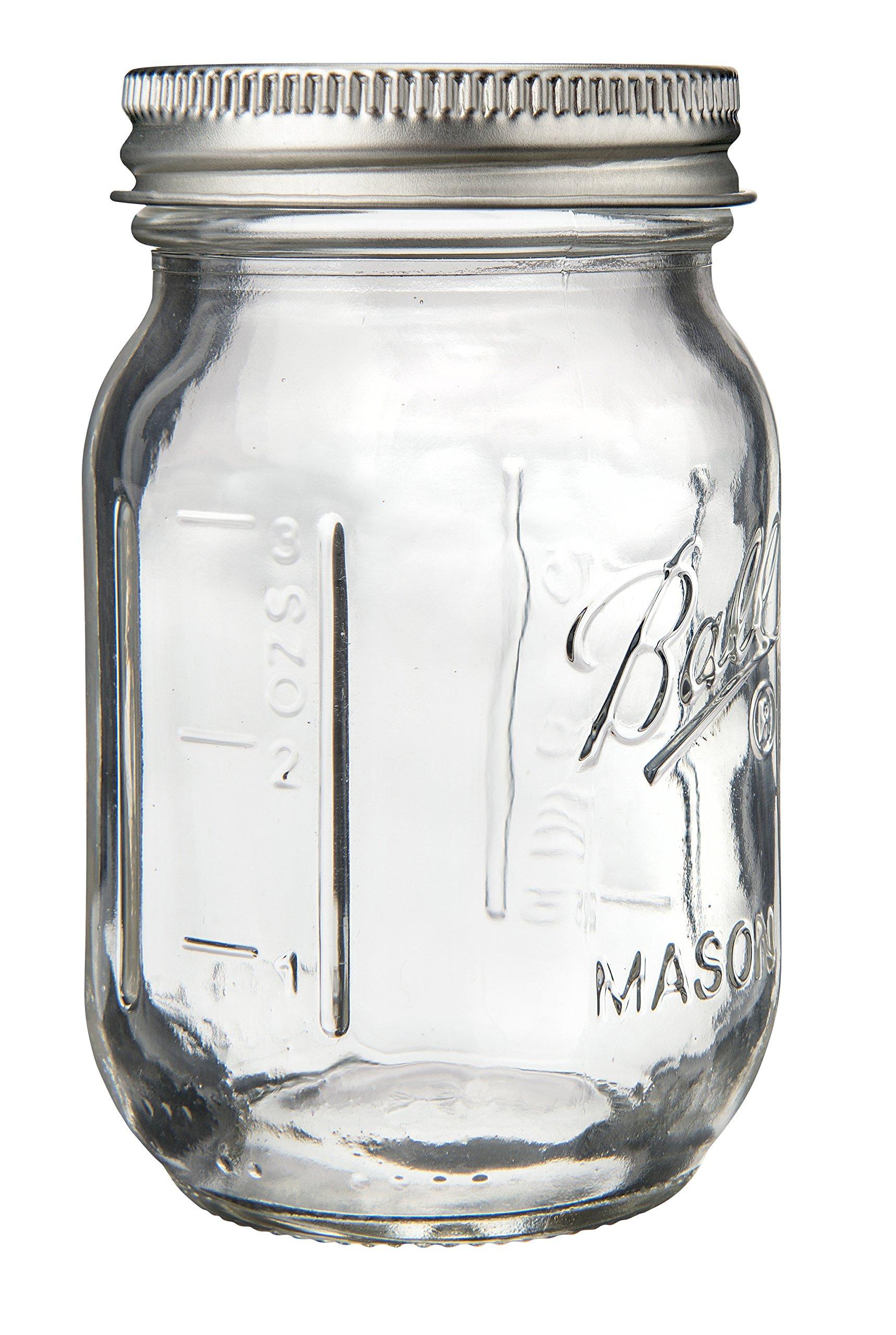 Ball 1440080100 Miniature Storage Jar Mini Jar 4 Oz Miniature Storage Jar, 24 Jars,