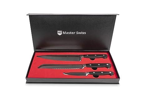 Compra Master Swiss Juego de Cuchillos Chef Essential de 3 ...