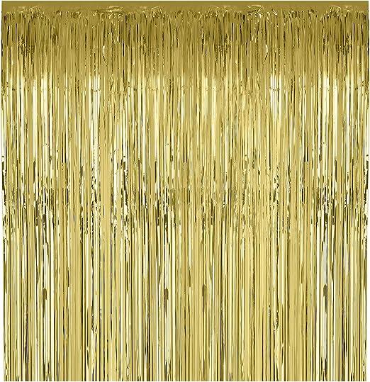 Amazon.com: Cortinas metálicas con flecos de papel de ...