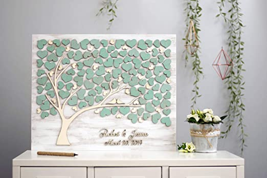 Personalized Guest Book Ideas Guest Book,Tree of Life Wedding Decor LOVE NILE 3D Wedding Guest Book for Rustic Wedding Alternative Tree